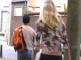 Girlie shows her stuff in public