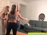 Amateur babes playing strip dart