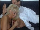 German girl pleasures this guy until he explodes