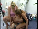 Two hot European milfs playing with their toys.