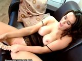 British babe Blair has a real orgasm
