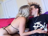 Rick with the mohawk hair and Alana with the perky tits tease and suck PT.1/2