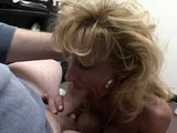 Seductive Blonde works a shaft