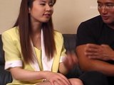 Cute, bashful Asian gets slowly turned on