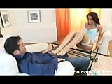 An awesome footjob session with an Angel