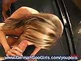 German babe fucked hard after sucking