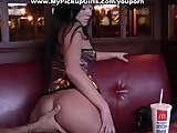 Pickup porn with a hot brunette