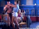 Girls go wild with Male Strippers