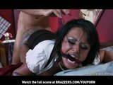 BIG-TIT BRUNETTE PORNSTAR WITH BIG-ASS DEEP THROAT