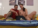 Cute girl rides sybian for the first time