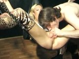 German tranny gets gangbanged