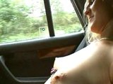 German girl bangs in the car - Sascha Production