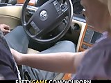 Sexy BBW gives gets fucked in the car