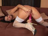 Exotic hottie Claudia playing with a big toy - CzechSuperStars