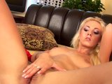 Hot blonde Nicol with pink dildo - CzechSuperStars