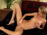 Zlata sticks a dildo in her tight pussy - CzechSuperStars