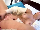 English Blaire has a dildo orgasm