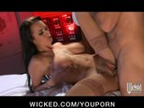 Hot Busty Brunette nurse Alektra Blue fucks her pa