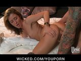 Horny redhead slut sucks &amp; fucks a soldier&#039;s dick