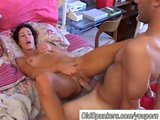 Sexy MILF gets shafted and eats spunk