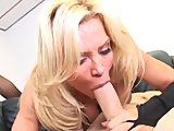 Trashy Blonde Slut Amber Lynn Is Stuffed In Her Stockings