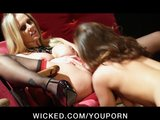 Hot busty Blonde Pornstar Julia Ann fucks  slut&#039;s pink pussy