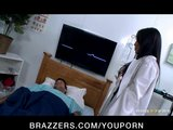 Hot &amp; Horny Asian slut Nurse Asa Akira fucks a patient&#039;s big dick