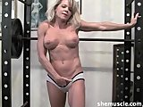 Mature blonde gym instruction