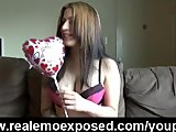 Emo hottie Fingering for her valentine