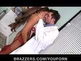 HOT busty nurse Madison Ivy paid for rough-sex by hospital doctor