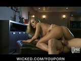 Stunning dirty blonde babe Nicole Aniston sucks &amp; fucks big-dick