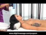 British Girl Rio Lee Gives Nina James a Hot Massage