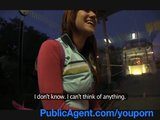 PublicAgent Lucy Gets my big cock in her behind the train station.