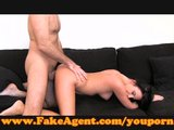 FakeAgent Hot brunette creampie