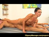 Leering limber Promesita offers flexi Nuru massage