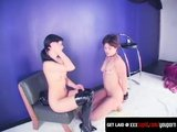 Bondage Brunette Lesbians Feel The Pleasure And Pain
