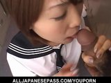 Asian school girl gets naughty in the locker-room