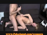 FakeAgent Hot blonde in anal audition