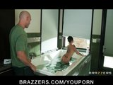 Bathing big-booty brunette Christy Mack loves rough anal