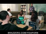 Slutty big-tit schoolgirl Brooklyn Chase is seduced by her prof