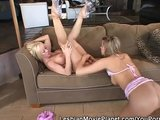 Hot Lesbians On The Couch