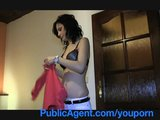 PublicAgent Lenka Takes Cash for a Ride in her Pussy