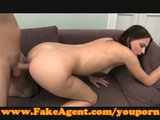 FakeAgent Skinny amateur takes first time facial