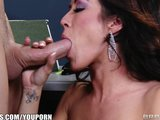 Capri Cavanni sneaks out of office party &amp; deepthroats big-dick