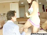 Teen's ass on step-dad's face