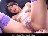 Asian babe Mai Kaoru wet pussy fucked doggy-style