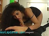 Exotic lady does striptease and lapdance