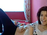 Cute teen masturbating on webcam