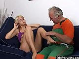 Fuck my wet slit, old man!
