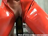Huge wine bottle fucking extreme amateur slut